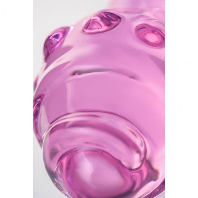 Стеклянная анальная втулка Sexus Glass (16 см , розовый)