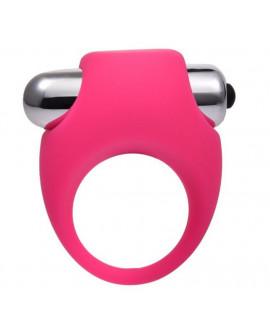 Эрекционное кольцо силиконовое с вибрацией Onjoy Silicone Collection (розовый)