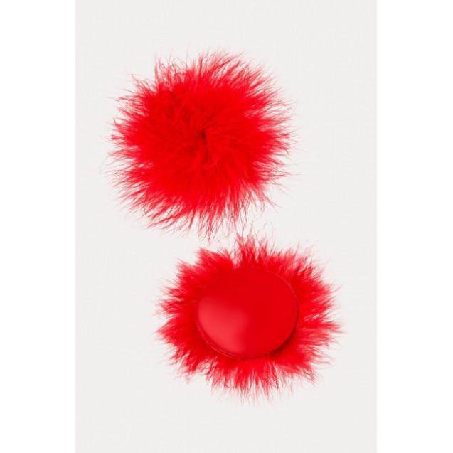 Круглые пестисы с пухом красные Erolanta