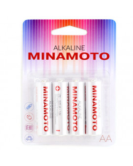 Батарейка щелочная MINAMOTO LR06 (AА) 1.5В (4 шт)